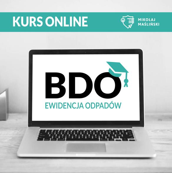 Ewidencja odpadów w BDO Kurs online