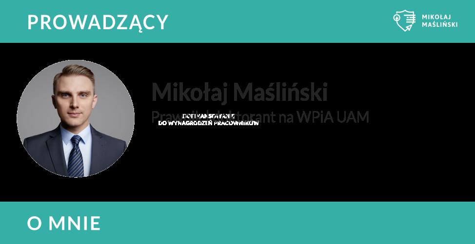 Mikołaj Maśliński Prawnik BDO sklepy internetowe